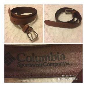 Columbia Sportwear Co Genuine Leather Belt